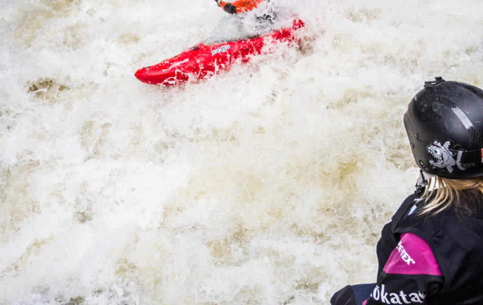 Rush Sturges on the Basse Cachée during the 2014 Whitewater Grand Prix Giant Slalom