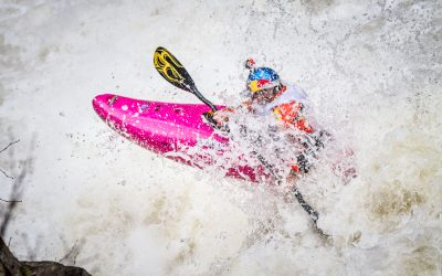 Dane Jackson on the Basse Cachée during the 2014 Whitewater Grand Prix Giant Slalom