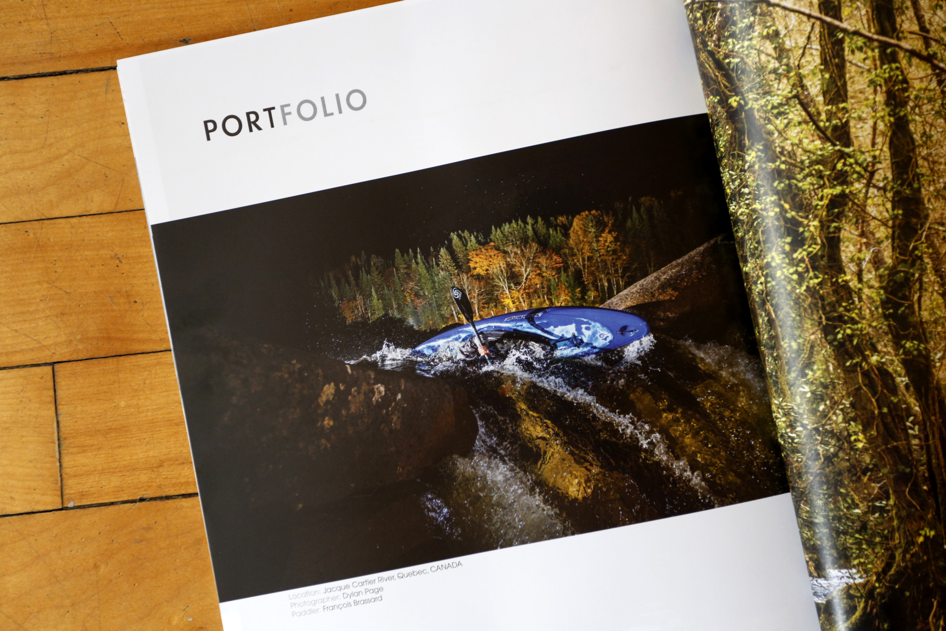 Portfolio shot, Kayak Session magazine