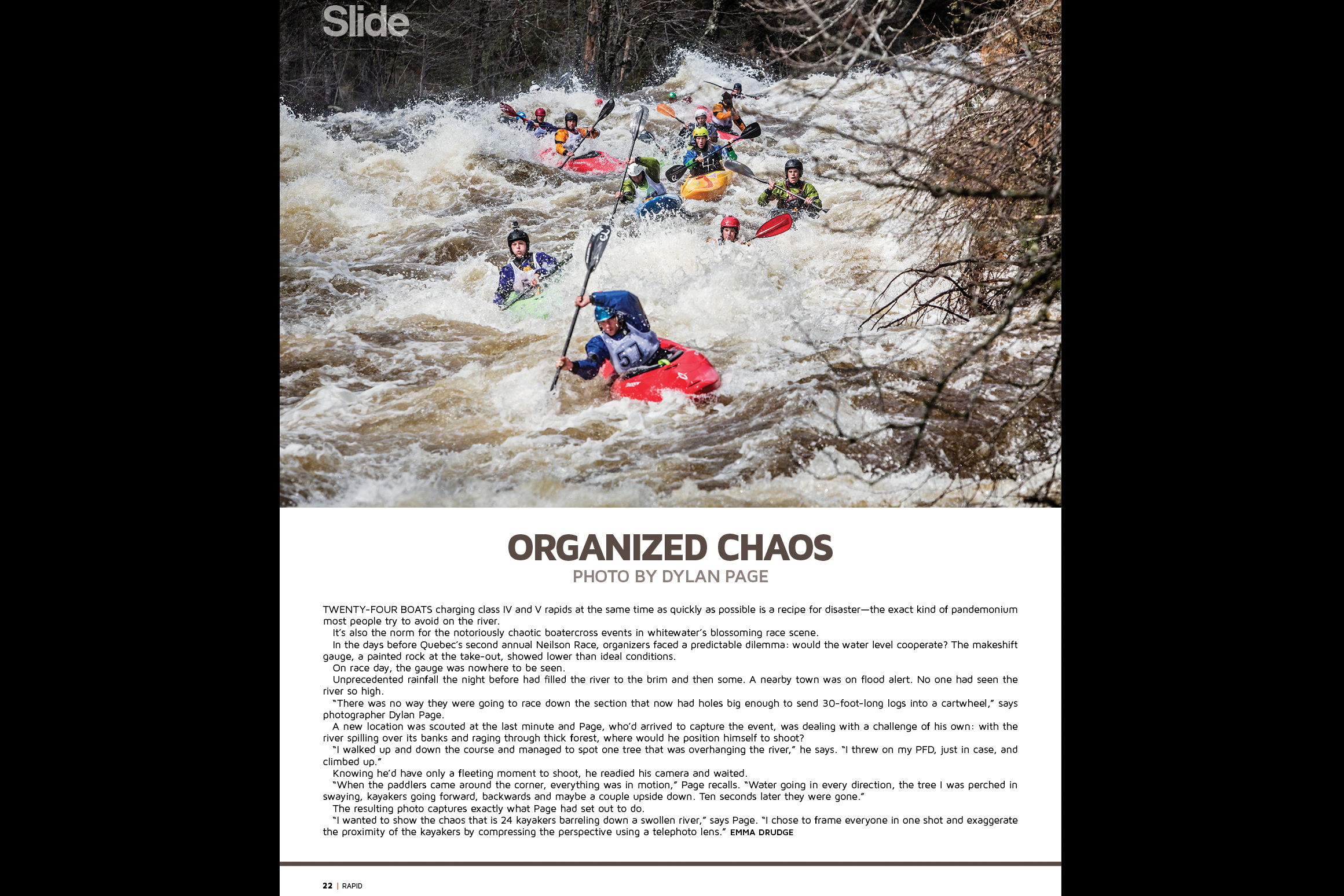 Organized Chaos article in RAPID MAG