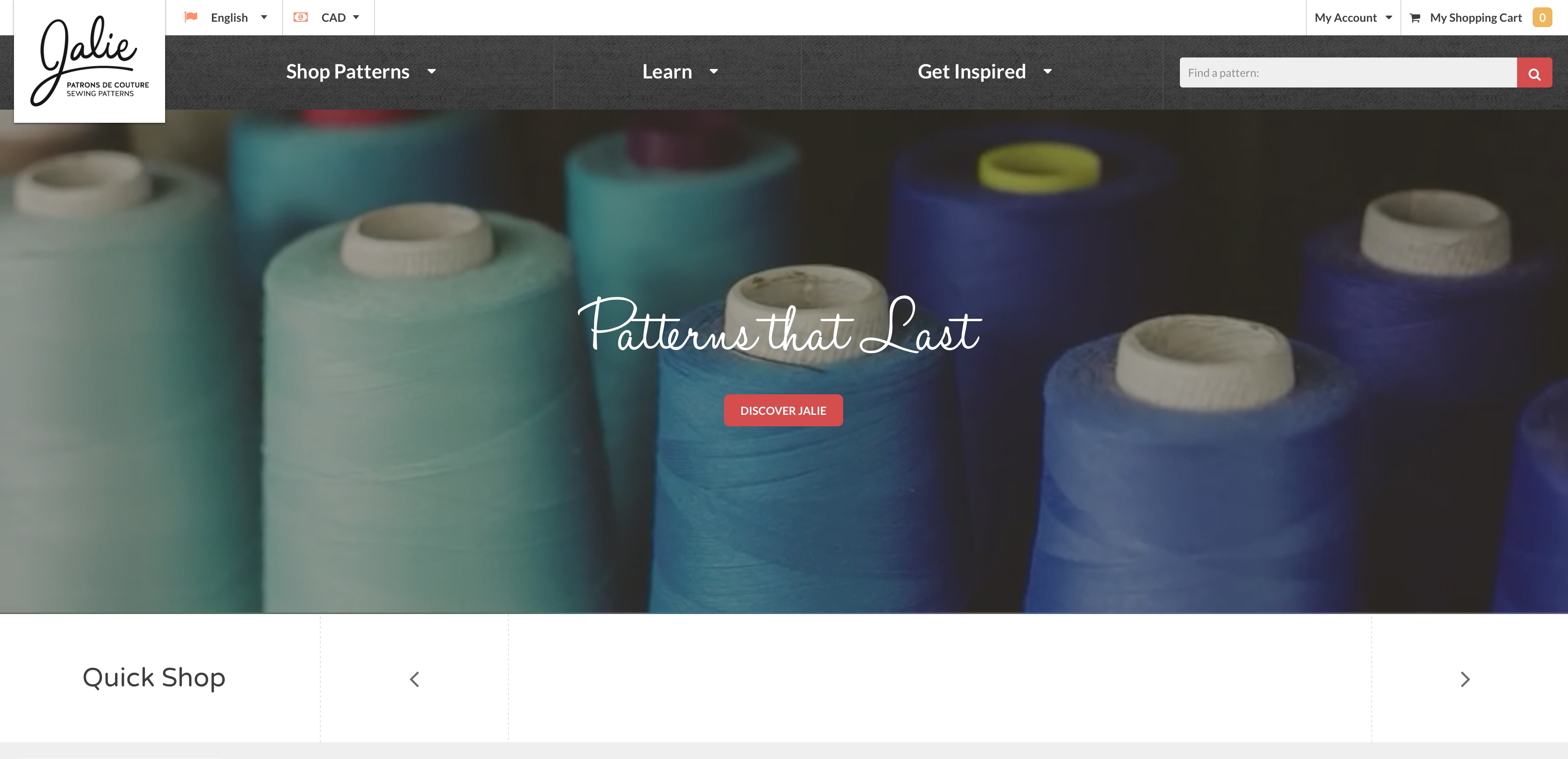 Boucle vidéo pour le site de Jalie Sewing Patterns