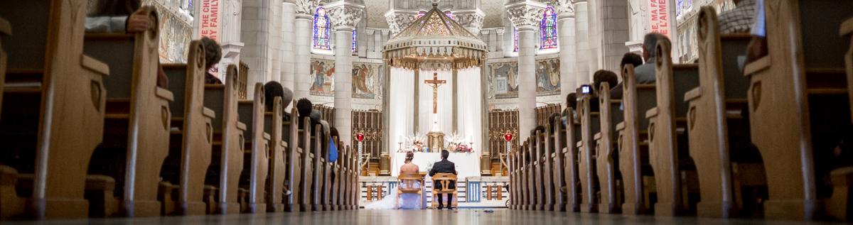Mariage de Martine et Andrew à Ste-Anne de Beaupré
